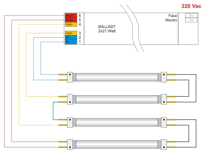 Schema Collegamento Neon Circolare : Schema collegamento neon parallelo fare di una mosca