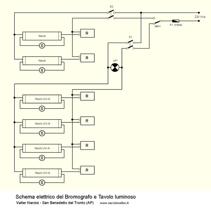 Schema Elettrico Timer Per Bromografo : Bromografo e tavolo luminoso bromograph and light table