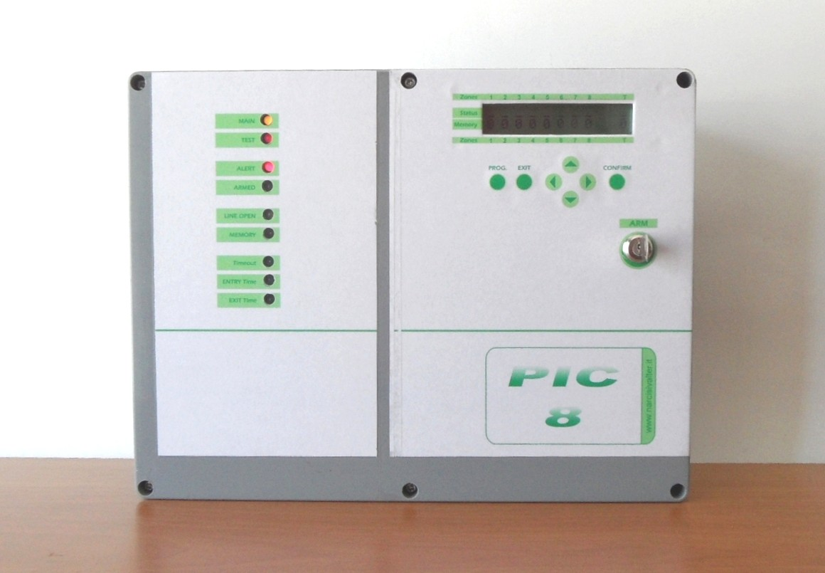 8 zone burglar alarm control panel centrale antifurto a - Centralina allarme casa ...