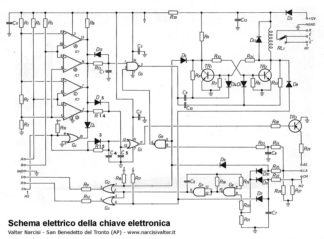 Electronic key chiave elettronica per centrali antifurto - Centralina allarme casa ...