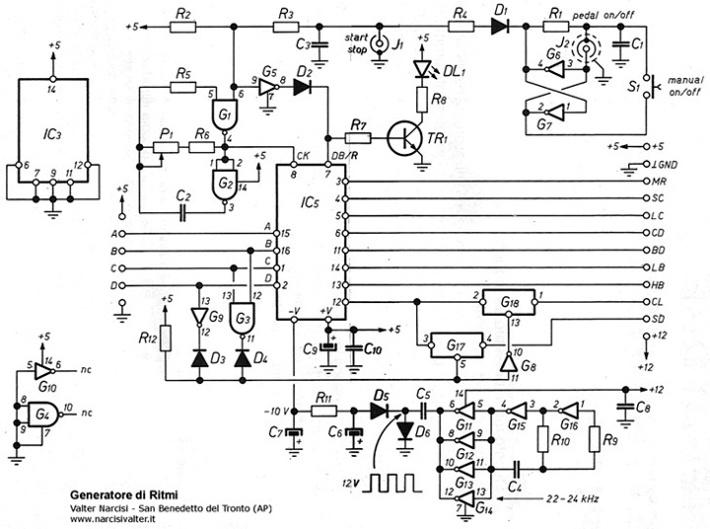 Schema Elettrico Generatore Di Ultrasuoni : Drum machine generatore di ritmi rhythm