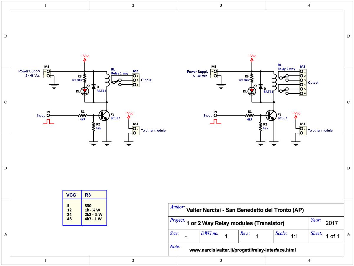 Schemi Elettrici Base Per Principianti : Relay interface interfacce a relè