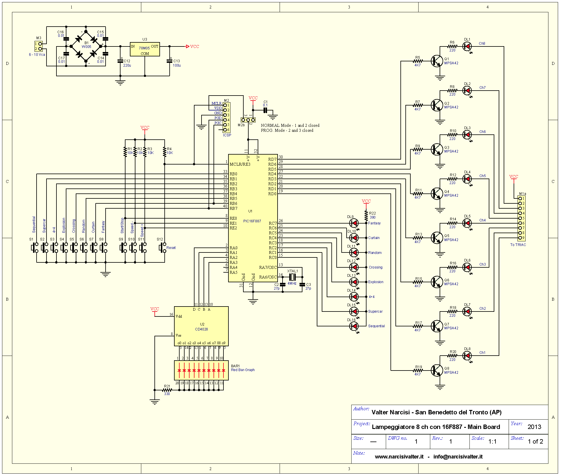 Schema Elettrico Lampada Led 220v : Channel light blinker lampeggiatore v a canali