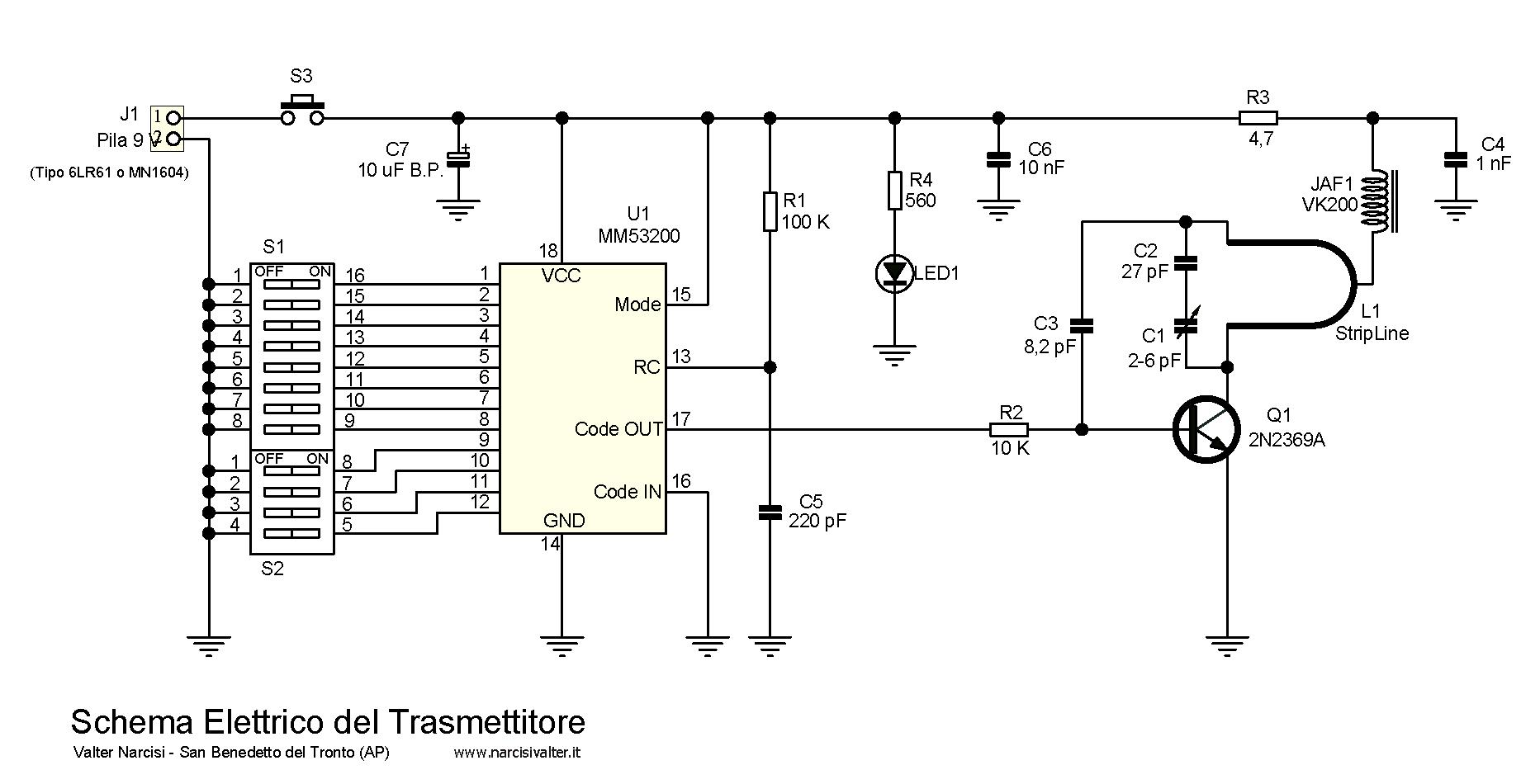 Schema Elettrico Auto : Mm vhf remote control radiocomando codificato con