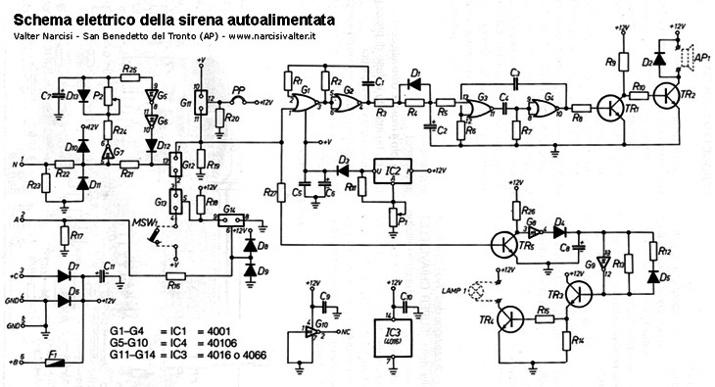 Schema Elettrico Sirena Autoalimentata : Autoself siren sirena autoalimentata per antifurto