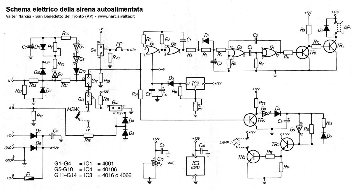 Schema Elettrico Sirena Autoalimentata : Schema elettrico sirena autoalimentata fare di una mosca