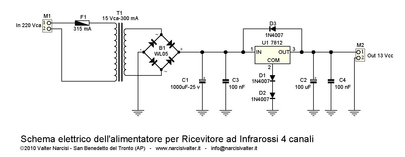 Schemi Elettrici Barriera Infrarossi : Channel ir remote control telecomando a raggi