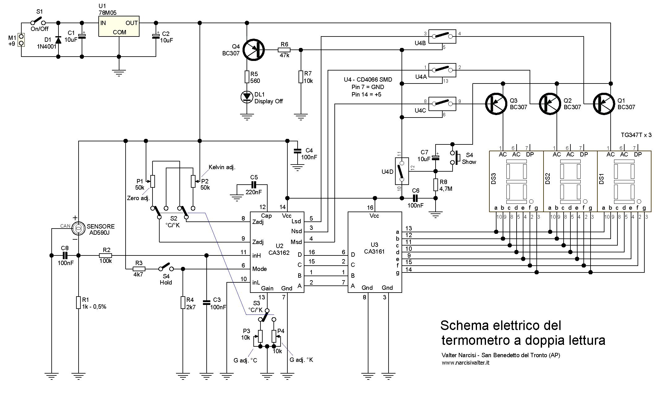 Digital Thermometer C/F - Termometro Digitale a Doppia Lettura