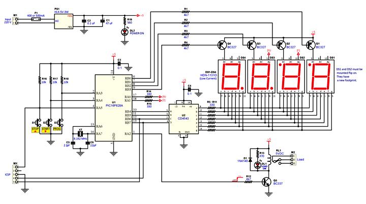 Schema Elettrico Richiamo Per Uccelli : Programmable cyclic timer relè ciclico programmabile