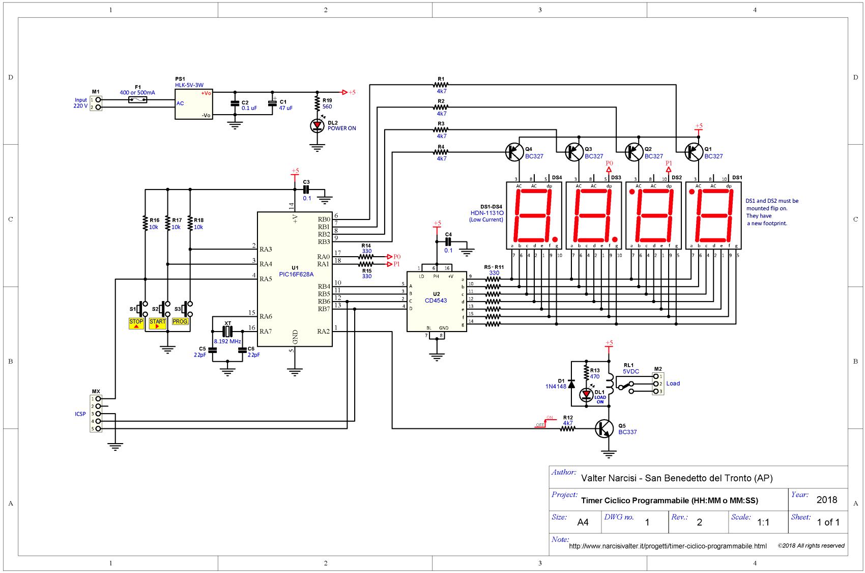 Programmable Cyclic Timer - Relè Ciclico Programmabile