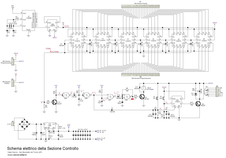 Schema Elettrico Orologio Temporizzatore : Timer digitale programmabile digital programmable