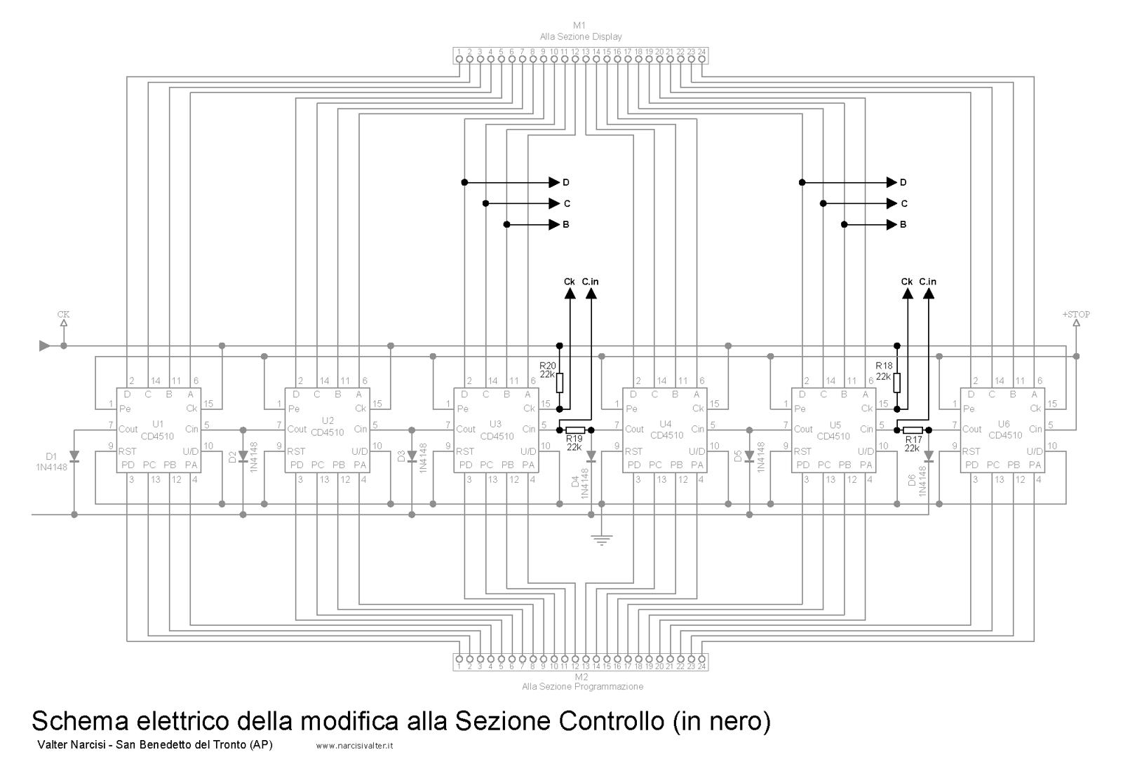 Schemi Elettrici Lettura : Timer digitale programmabile hh mm ss fino a ore