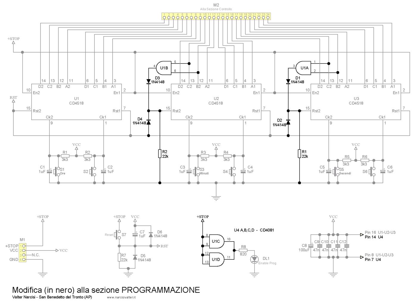 Schema Elettrico Orologio Temporizzatore : Timer digitale programmabile hh mm ss fino a ore